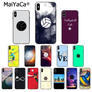 MaiYaCa Sport Volleyball Silicone TPU Soft black Phone Case for iPhone 8 7 6 6S Plus 5 5S SE XR X XS MAX Coque Shell(China)