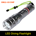 Ultra brightness CREE Torch XM-L2 U3 2000Lumen Led Diving Flashlight IP68 15W 100M Waterproof Design Torch Flash light For diver