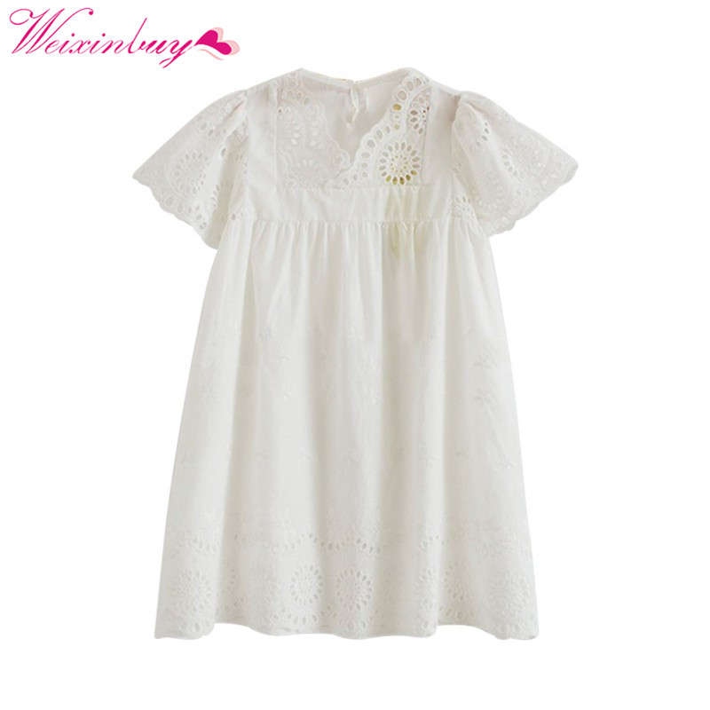 Baby Girls Dress Brand Summer Princes Style Hollow Out Party Birthday Dresses For Girls Vintage Toddler Girl Clothing 2-7Yrs цена
