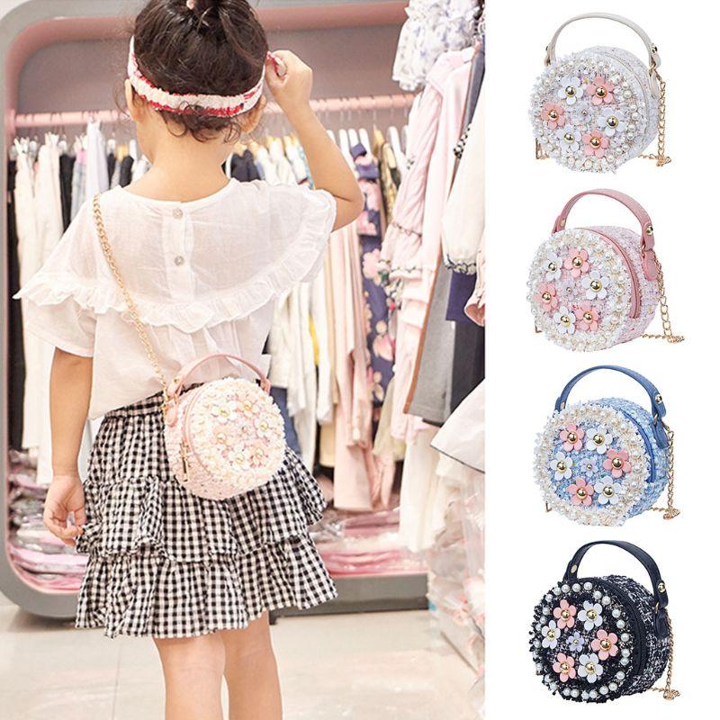 Crossbody-taschen Genial Thinkthendo Mode Kinder Mini Runde Handtasche Für Mädchen Schulter Tasche Pu Leder Crossbody Geldbörse Taschen