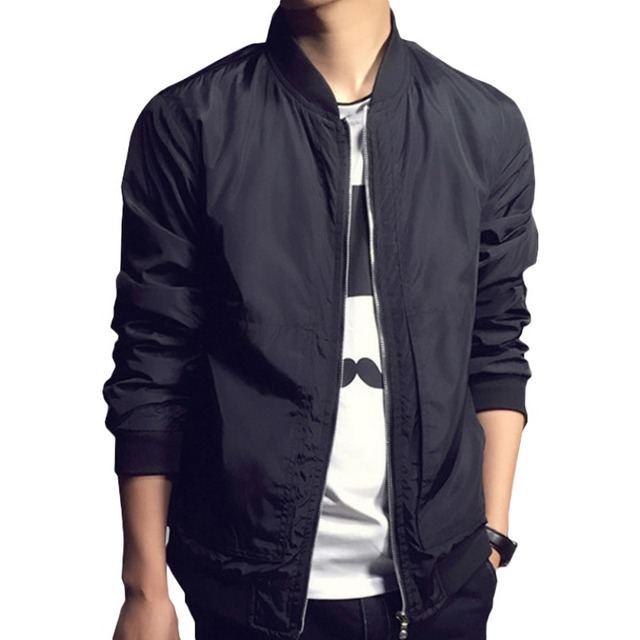 Spring Men's Jackets Male Casual Slim Long Sleeve Coat Stand Collar Casual Jacket Overcoat