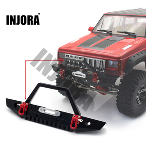 Image 5 - INJORA 1:10 RC Crawler Metal Front & Rear Bumper with Lights for 1/10 Axial SCX10 90046 RC Car