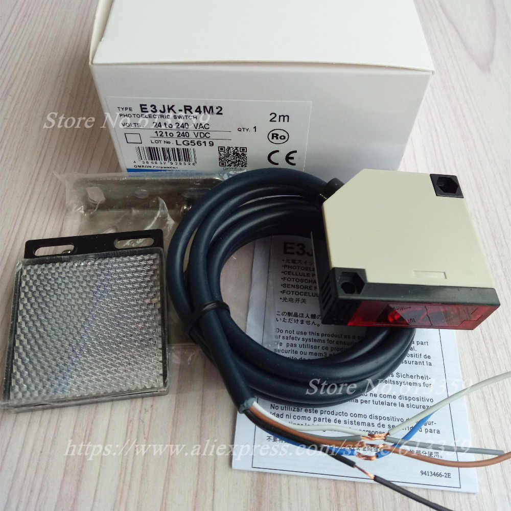 hight resolution of  e3jk r4m2 omron new photoelectric switch sensor distance 4 meters adjustable ac dc 5