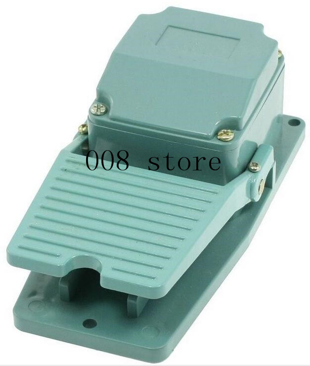 Livraison gratuite AC 250 V 15A 1NO 1NC pédale momentanée pédale interrupteur à pied w presse-étoupe TFS-402 vert