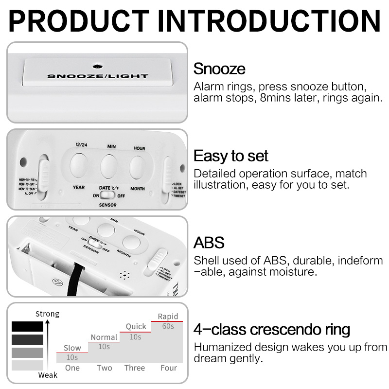 Digital Table Alarm Clock 4