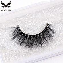 AMAOLASH Mink Lashes 3D Eyelashes Natural Long Cross Professional False Extension Makeup High Volume J009