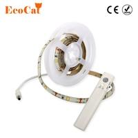 ECO Cat PIR Motion Sensor LED Strip Light Wireless Battery Operated Wardrobe Under Bed For Bedroom