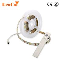 ECO Cat PIR Motion Sensor LED Strip Light Wireless Battery Operated Wardrobe Under Bed For Bedroom