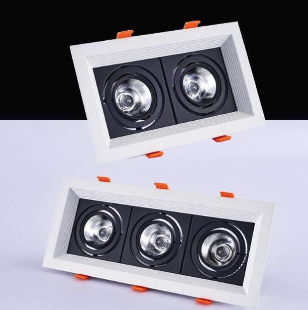 1 pcs praça 20 w 30 w AC85V-265V LED regulável Teto Downlight Recesso lâmpada LED LEVOU luz do Ponto Para Casa iluminação 110 v 220 v