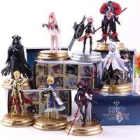 8pcs/set Fate Grand Order Action Figure Duel FGO Collection Figure Saber Scathach Mash Gilgamesh Merlin Medb Model Toys