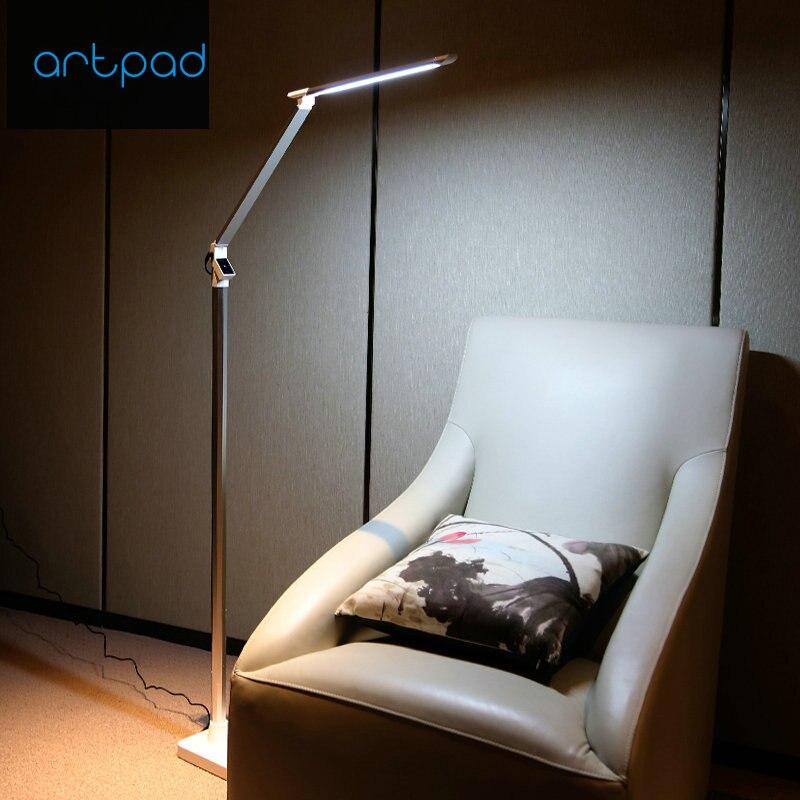 Artpad 12 ワット北欧輝度 Led フロアランプ 5 レベル調整タッチ調光ピアノ屋内ランプ床寝室用パーラー床 Led  グループ上の ライト & 照明 からの フロアランプ の中 1
