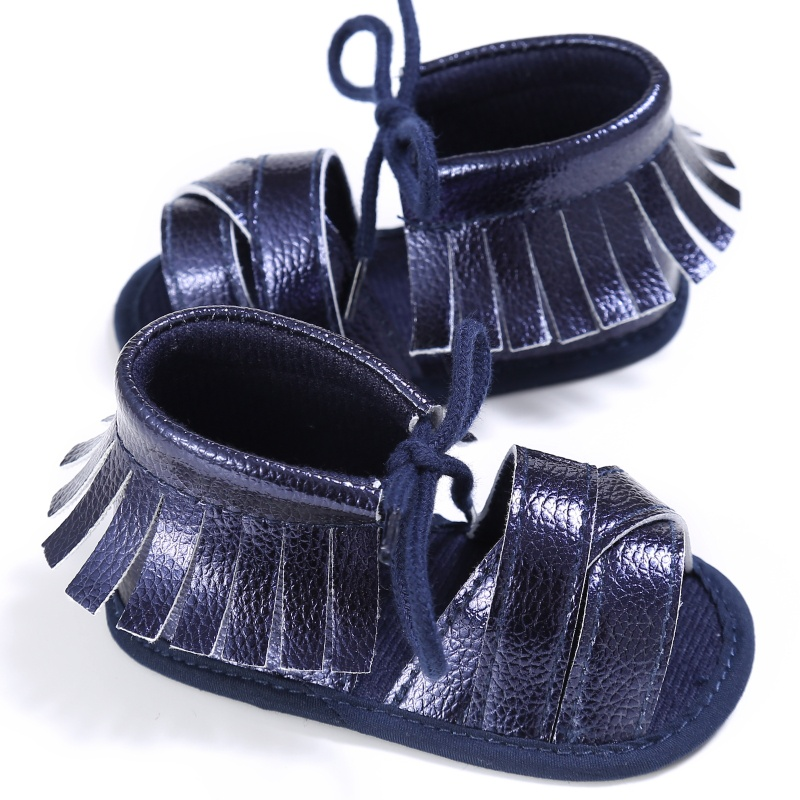New 0-18M Summer Baby Girls First Walkers PU Fashion Breathable Hollow Out Anti-slip Newborn Cack Shoes