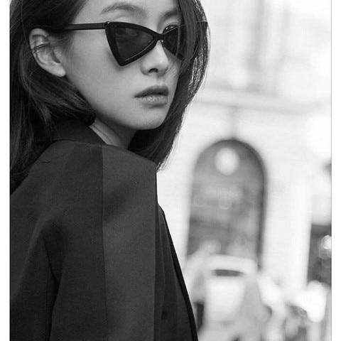 Small Triangle Cat Eye Sunglasses Women Fashion Vintage Cat Eyeglasses Female 2018 Stylish Sun Glasses UV400 Goggles Multan