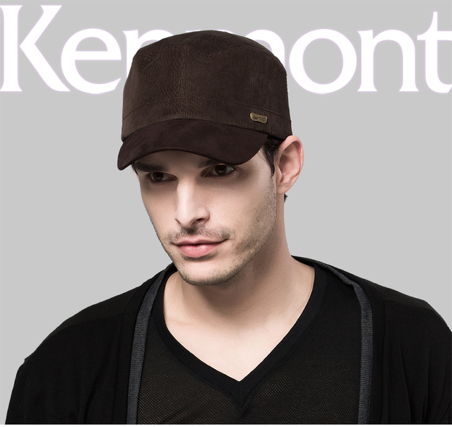 Free Shipping Brand Kenmont Caps Military Men Caps Hats 100% Cotton Black  Coffee Adjustable Size for Men Holiday Gifts 0566 7175a6645d9b