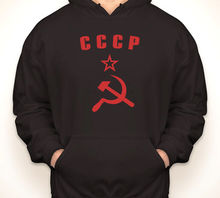 CCCP HAMMER & SICKLE Russia/Russian USSR black hoodie/hooded sweatshirt S-3XL