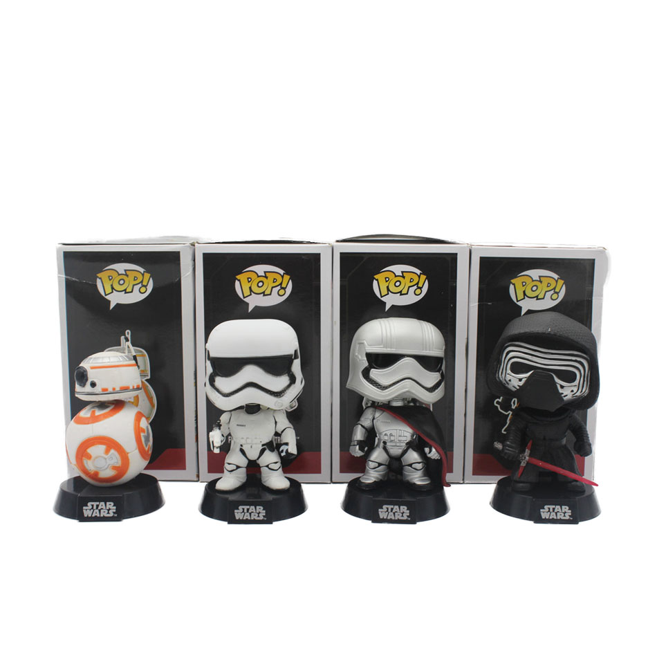 Funko Pop Bobble Head font b Figure b font Star Wars Captain Phasma order Stormtrooper KYLO
