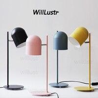 Willlustr new iron reading light bedside table lamp study room desk lighting office hotel Macaron color pink black yellow blue