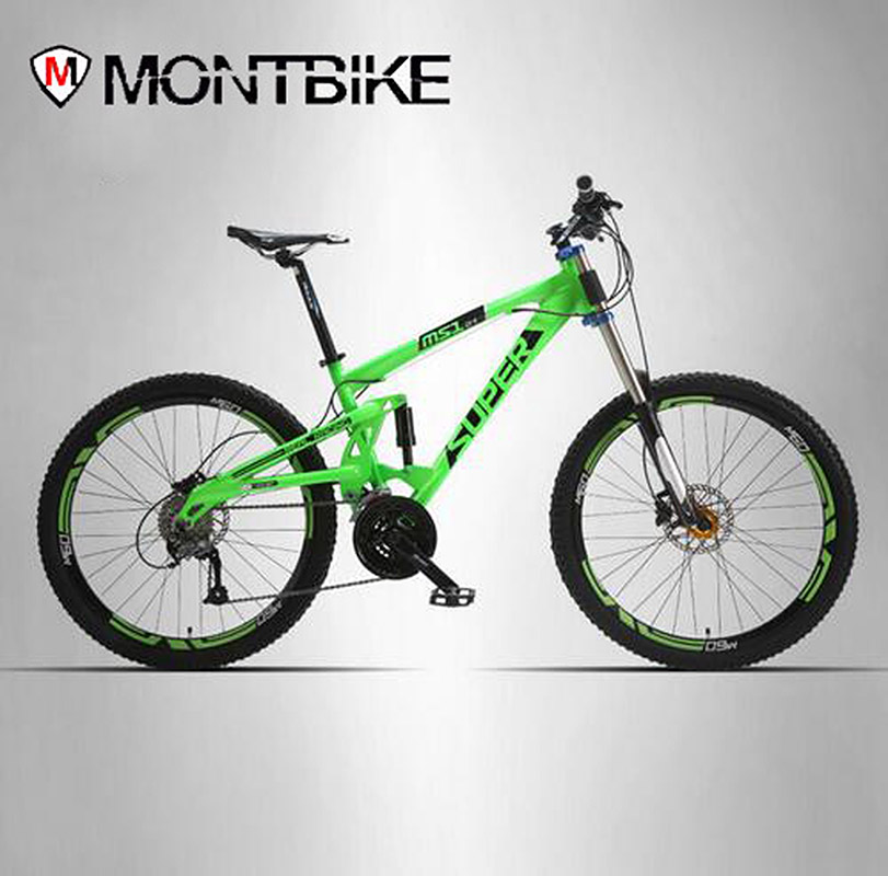 SUPER Mountain bike double-sided aluminum frame 24/27 speed hydraulic / mechanical disc brakes 26 wheels you ma 26 inch 21 24 27 speed aluminum alloy frame mountain bike double disc brakes student bicicleta bicycle free shipping