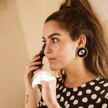 Vintage Jewelry Ethnic Punk Metal Enamel Black Big Eyes Drop Earrings for Women Fashion Punk Collection Earrings Accessories vintage eyes pentagram earrings