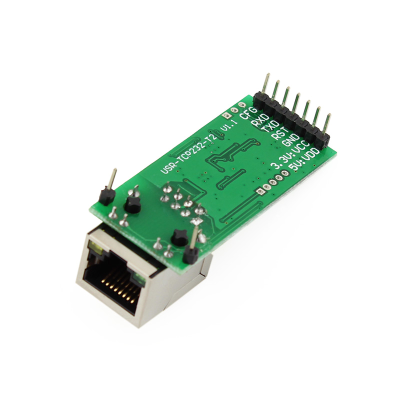 USR-TCP232-T2 Free Shipping Tiny Serial Ethernet Converter Module Serial UART TTL to Ethernet TCPIP Module Support DHCP and DNS q061 usr tcp232 304 rs485 to ethernet server serial to tcp ip converter module with built in webpage dhcp dns httpd supported