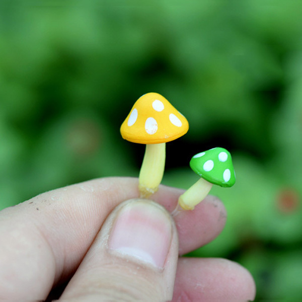 BAIUFOR Flocking Moss Stone Foam Rock Model Fairy Garden Miniatures DIY Terrarium Figurines Desktop Decor Home Accessories 5