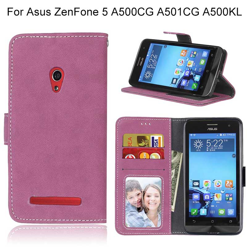 For Asus Zenfone 5 A501CG Cases Stand Flip Wallet Phone Cover For Zenfone Max ZC520KL ZX550ML Purse Bags Card Slots Photo Frame