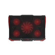 Professional External Laptop Cooler Pad 12-17 Inch With 5 Fans 2 USB Port Slide-Proof Stand Notebook Cooling Fan Ice Devil 4 coolcold ice magic 2 usb 2 0 4 fan laptop cooling pad notebook cooler