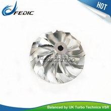 МФС Заготовки колеса компрессора турбо GTB2260VK 758353 7796315E турбина холодной колеса для BMW X3 3.0D E83 218HP 160Kw M57D Tu2 2004