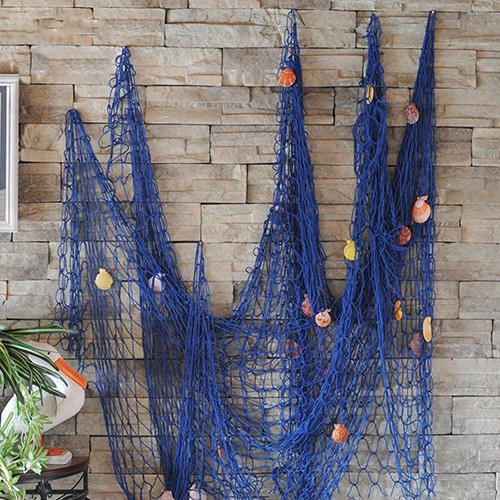 Shell Hanging Fish Net Nautical Ocean Theme Home Wall Decor Photography Props 6