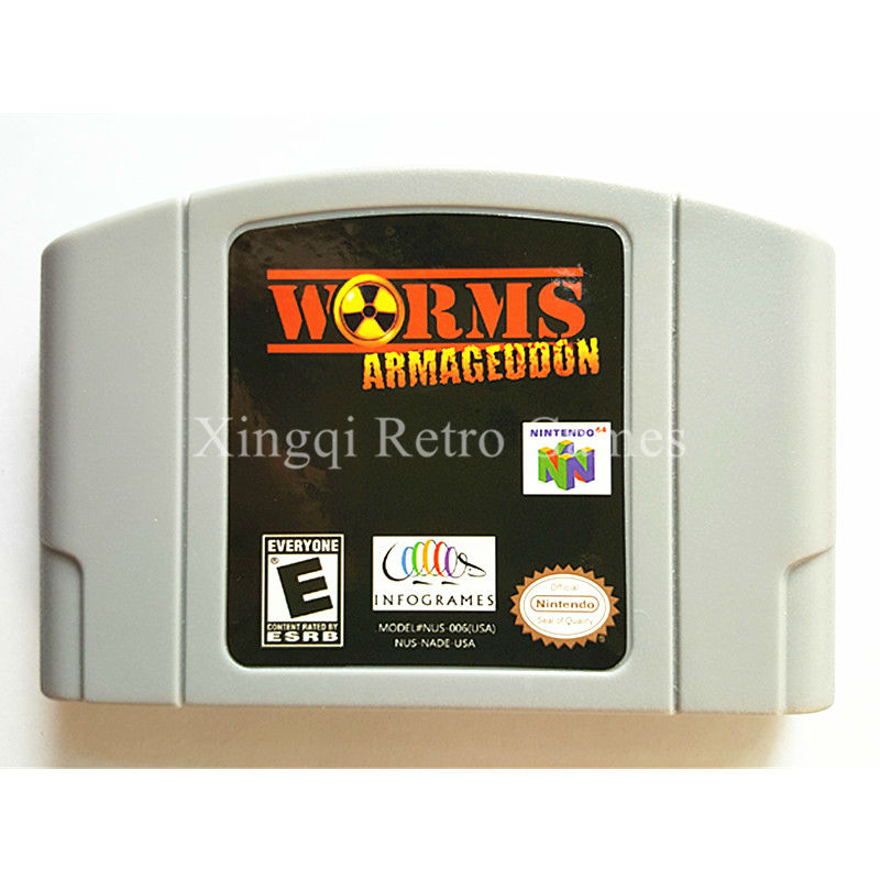 Nintendo N64 Game Worms Armageddon Video Game Cartridge Console Card English Language US Version