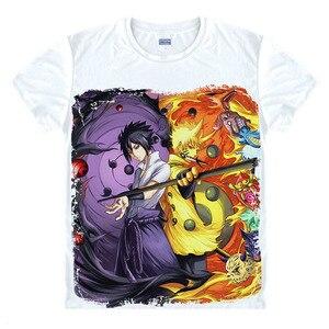 Image 1 - Anime Naruto T Shirt Uchiha Sasuke T shirt Akatsuki Uchiha Itachi Shuriken Uzumaki Naruto BORUTO Cosplay Costume Top Tee Shirt