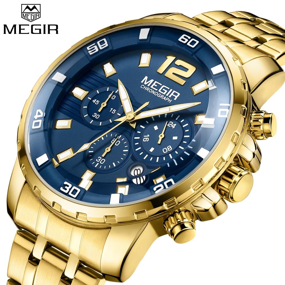 Reloj de cuarzo MEGIR de nuevo estilo para hombre, reloj de cuarzo militar de lujo de marca superior, reloj de cuarzo para hombre, reloj Masculino, cronógrafo de negocios