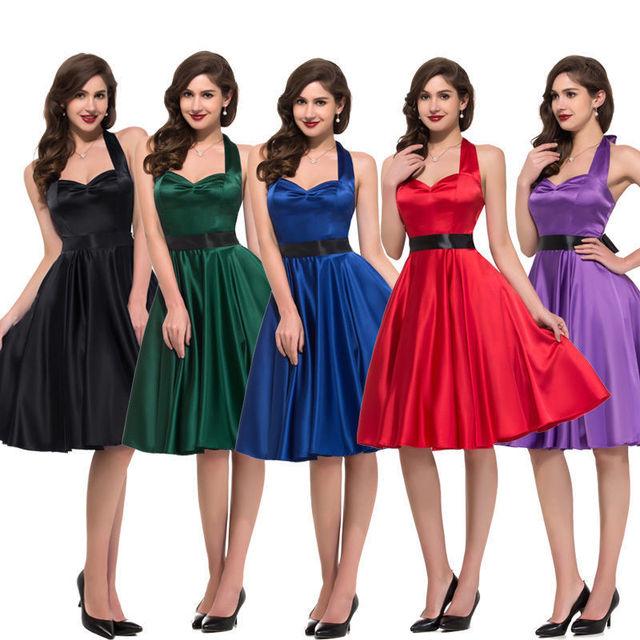 7xl Plus Size Women Spring Halter Style Satin Formal Dress Casual