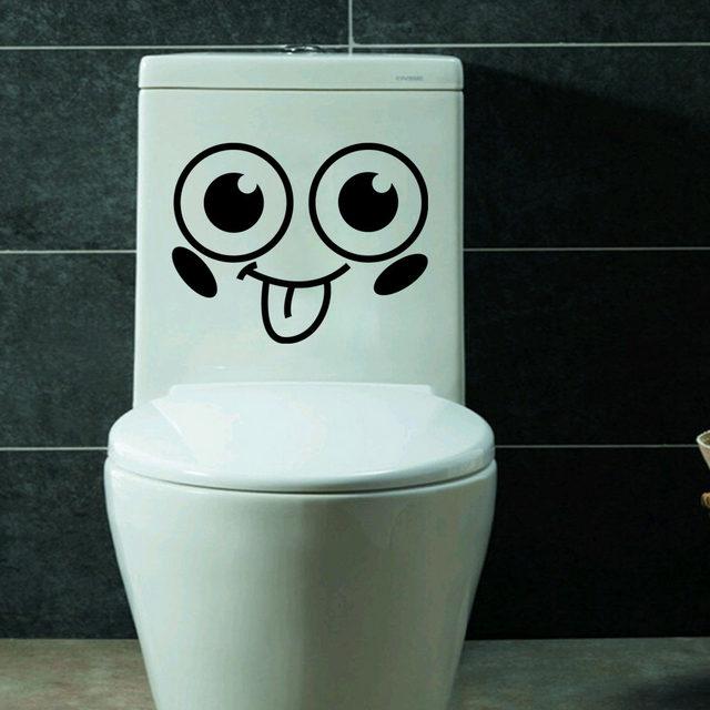 Online Shop Emoji Smiley Gezicht Muziek Muurstickers Voor Badkamer ...