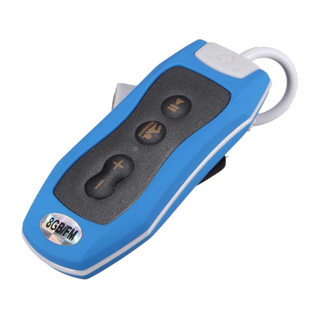 Водонепроницаемый MP3 музыкальный плеер Спорт Плавание Дайвинг FM радио клип 8 ГБ и наушники