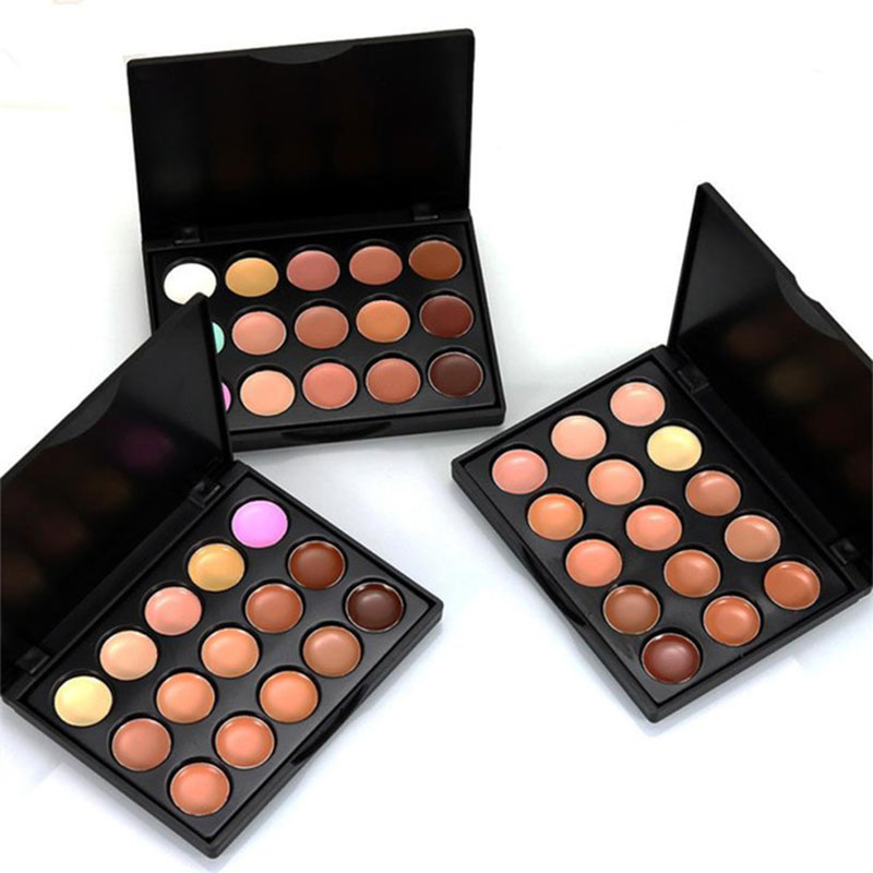 Professional Concealer Palette Full Cover 15 Colors Foundation Makeup Contouring Facial Hide Blemish Palette Concealer Cosmetics