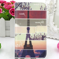 PU Leather Case Cover Card Holder Mobile Phone Bag Pouch Skin Protector Flip WA For Samsung