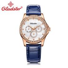 Gladster Роскошные брендовые японские повседневные женские часы с механизмом TMI, уникальные стильные синие желтые женские наручные часы, подарок, женские кварцевые часы