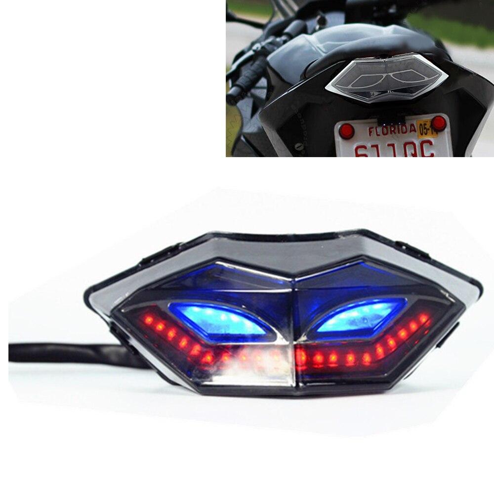 For Kawasaki Ninja 250 300 EX300 Z250 Z300 Motorcycle LED Tailligh Tail Light Rear Lights Turn Signals Indicator Brake Light