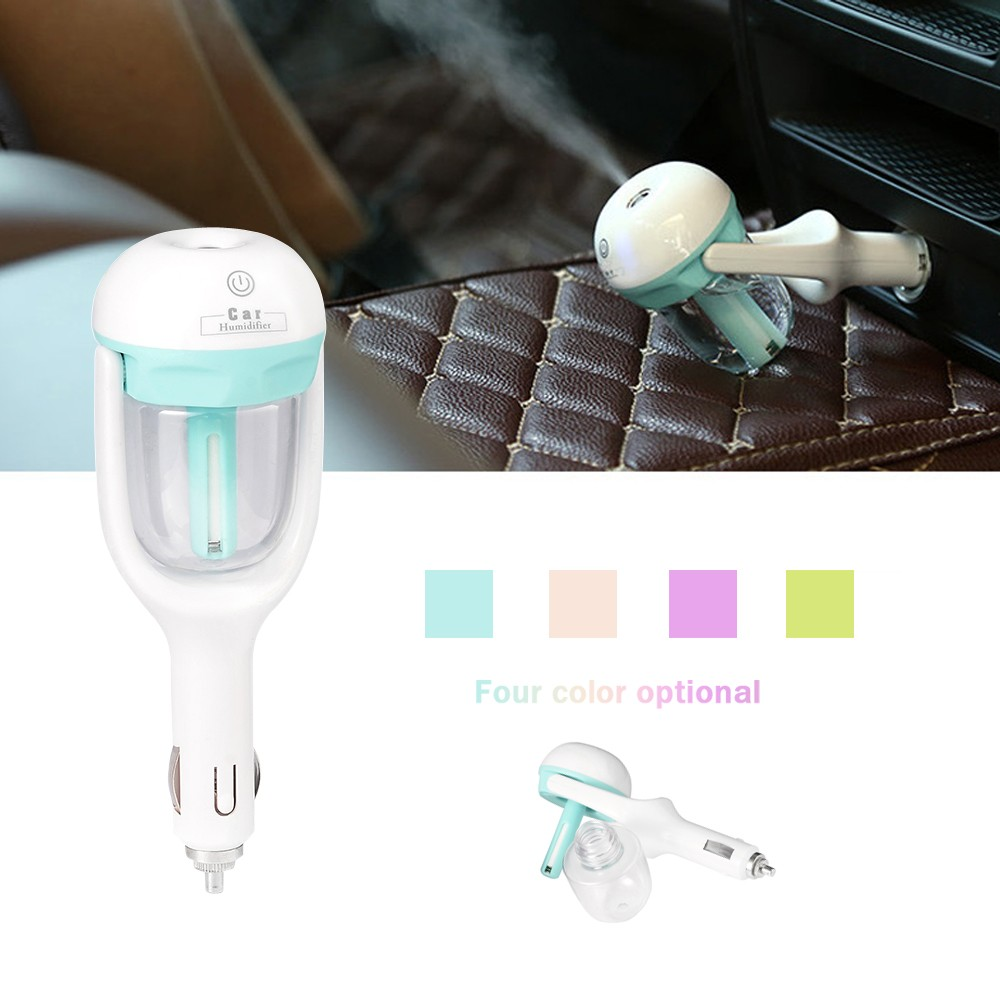 Mini 12V Car Steam Humidifier Air Purifier Aroma Diffuser Essential Oil Diffuser Aromatherapy Mist Maker Fogger