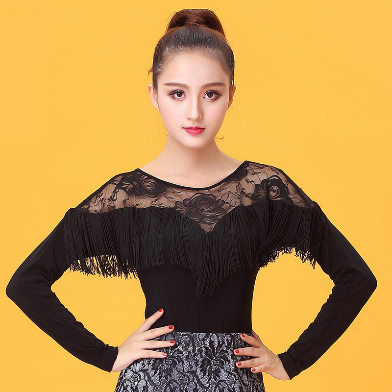 f5ca8c3bdc3 Sexy Ballroom Modern lace Latin dance clothes top for women female girl  dancerwears