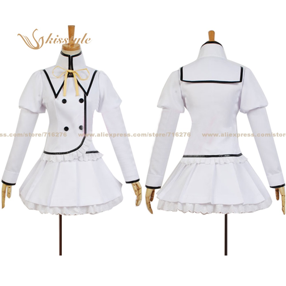 Kisstyle Fashion Blade Dance of Elementalers Claire Rouge Uniform White Cosplay Costume Hot Sale