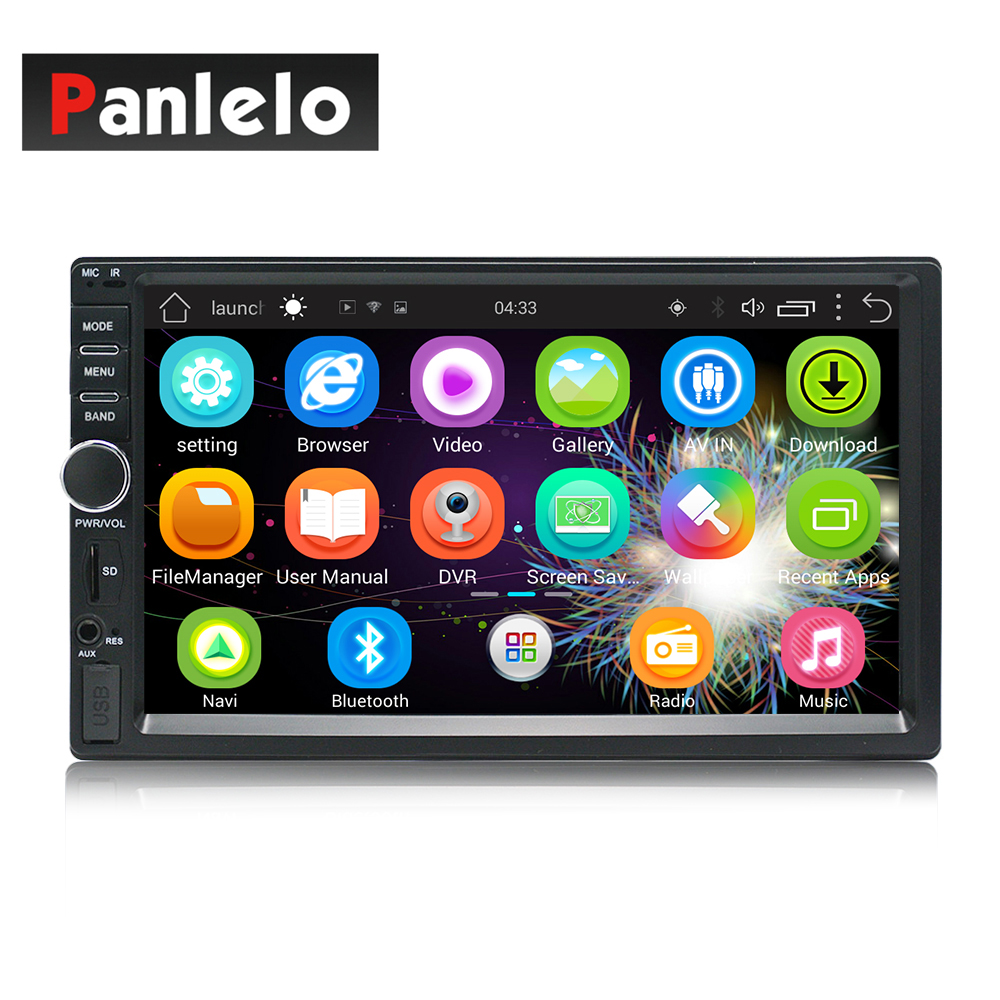 Car MP5 Player In Dash Head Unit Video Music 2 Din 7 Inch 1GB RAM 16GB ROM Touch Screen Bluetooth SWC Wi Fi Android Quad Core in Car MP4 MP5 Players from Automobiles Motorcycles