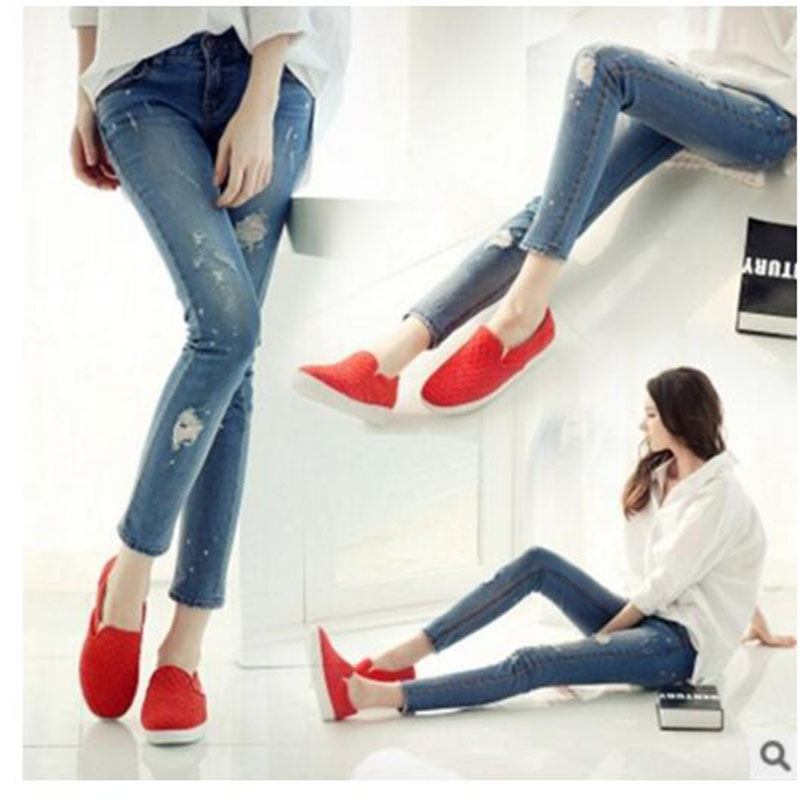 Ripped Jeans For Women Skinny Denim Capri Jeans Femme Stretch Female Jeans Vaqueros Mujer Slim Pencil Pants For Women GAREMA2017 new 2017 women skinny denim jeans femme stretch plus size female high waist jeans vaqueros mujer slim pencil pants e890