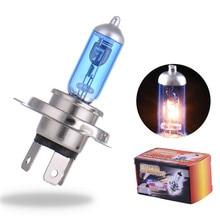 2PCS 12V 55W 4000K Xenon H4 Super White Halogen Car Light Source Bulbs Headlights Auto Lamp Parking Car-styling