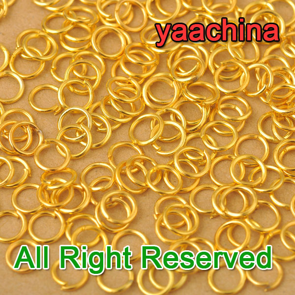 JEXXI 5MM 1000X Jewelry DIY Yellow Gold Filled Components Findings Opening Jump Rings Nice Made Fashion Jewelry