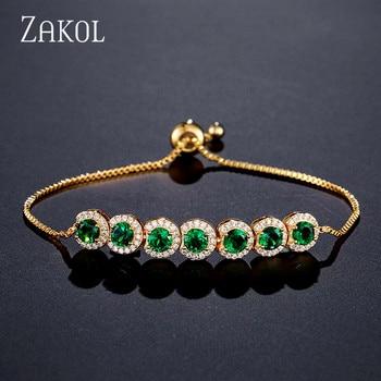 12cfa356a16e ZAKOL de las mujeres de la moda Cubic Zirconia pulsera de tenis ...