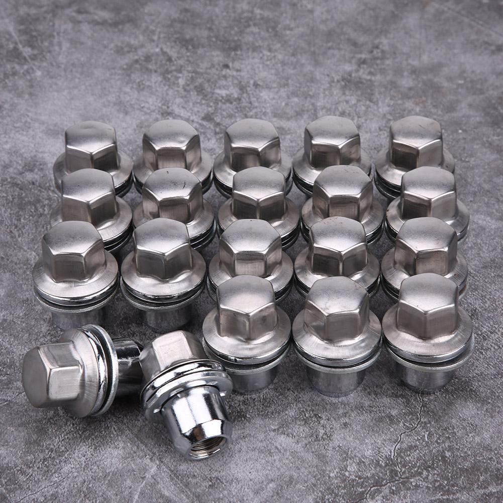 Car Wheel Nut,20Pcs Car Wheel Nuts Car Stainless Steel Wheel Nut High Strength Replacement for Land Rover Discovery 3 4 5 Range Rover Sport LR068126