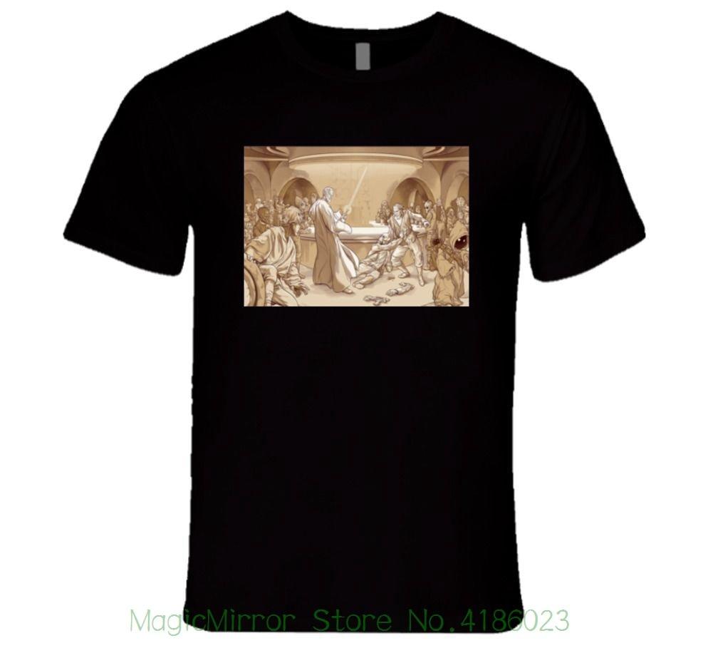 Jedi , Fight Laser , Lightsaber , Movie Tavern T Shirt Print T-shirt Summer Style