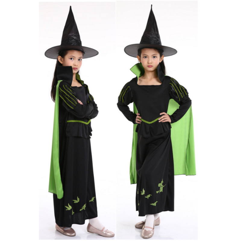 new luxurious child Witch Costume halloween girl Magic Moment Costume girl Elf Hostel Transylvania Elf witch cosplay party dress